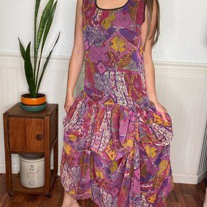 Vintage Design Todays Chiffon Drop Waist Dress